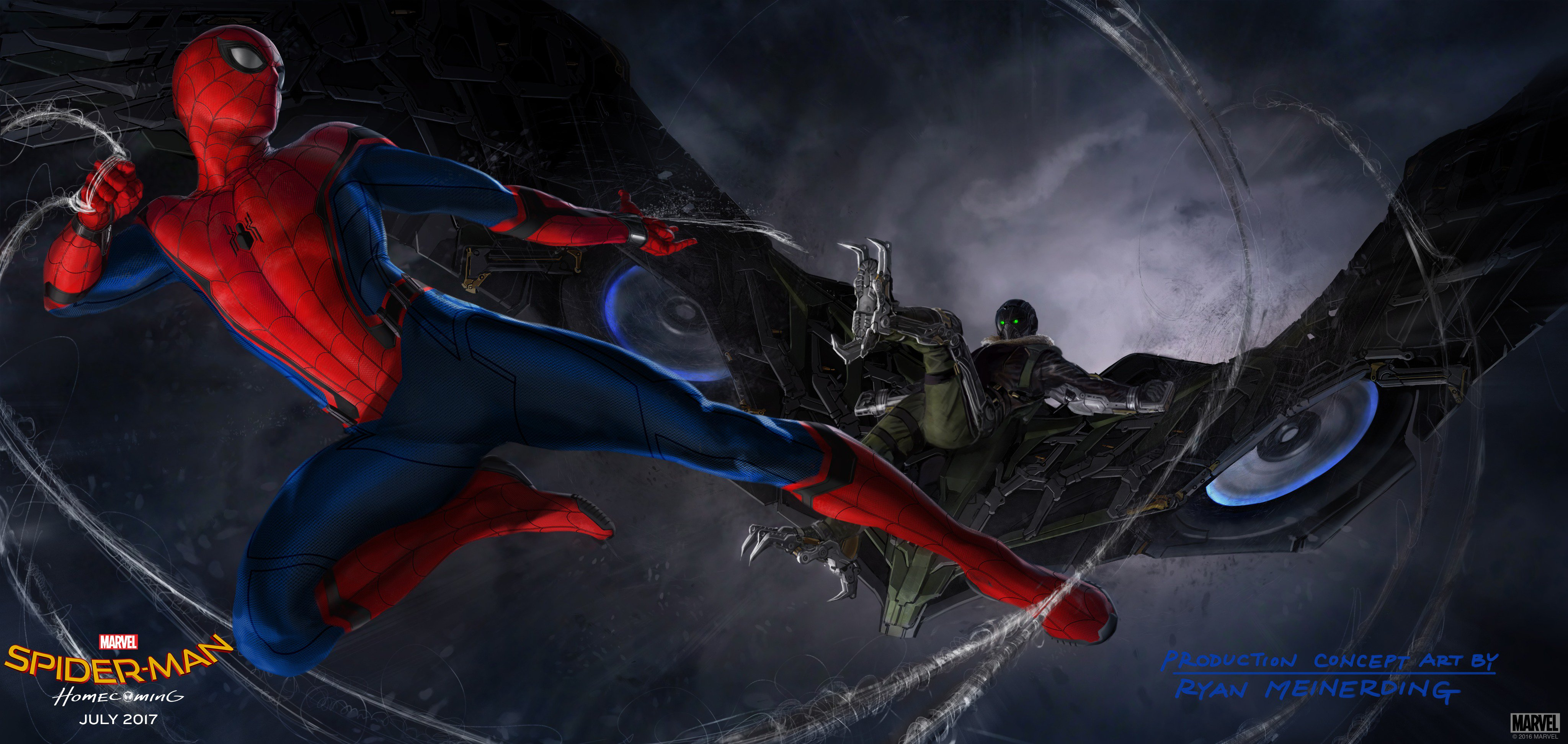 Vulture In Spider Man Homecoming Concept Art Hd Movies 4k