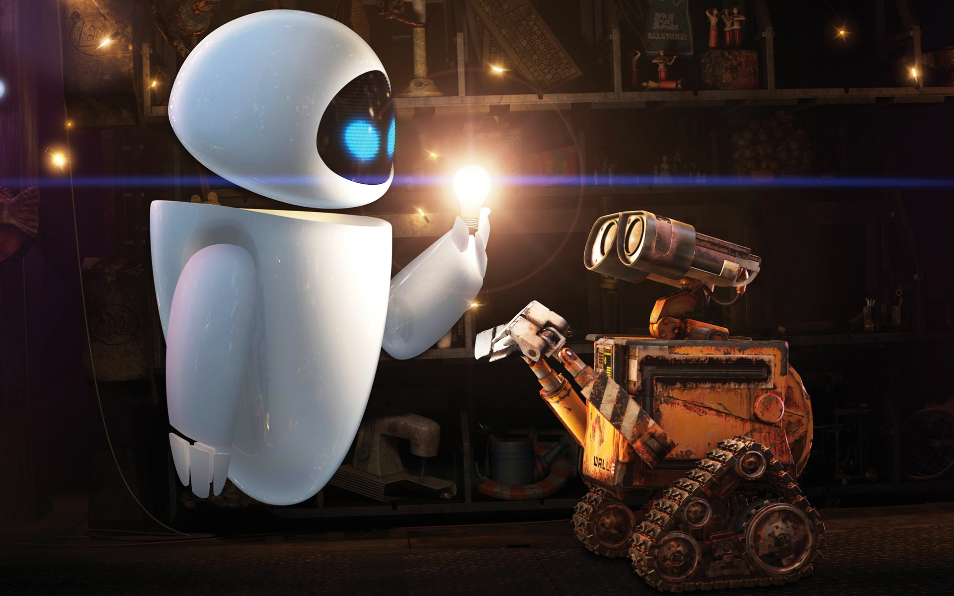 Wall E and Eve, HD Movies, 4k Wallpapers, Images, Backgrounds