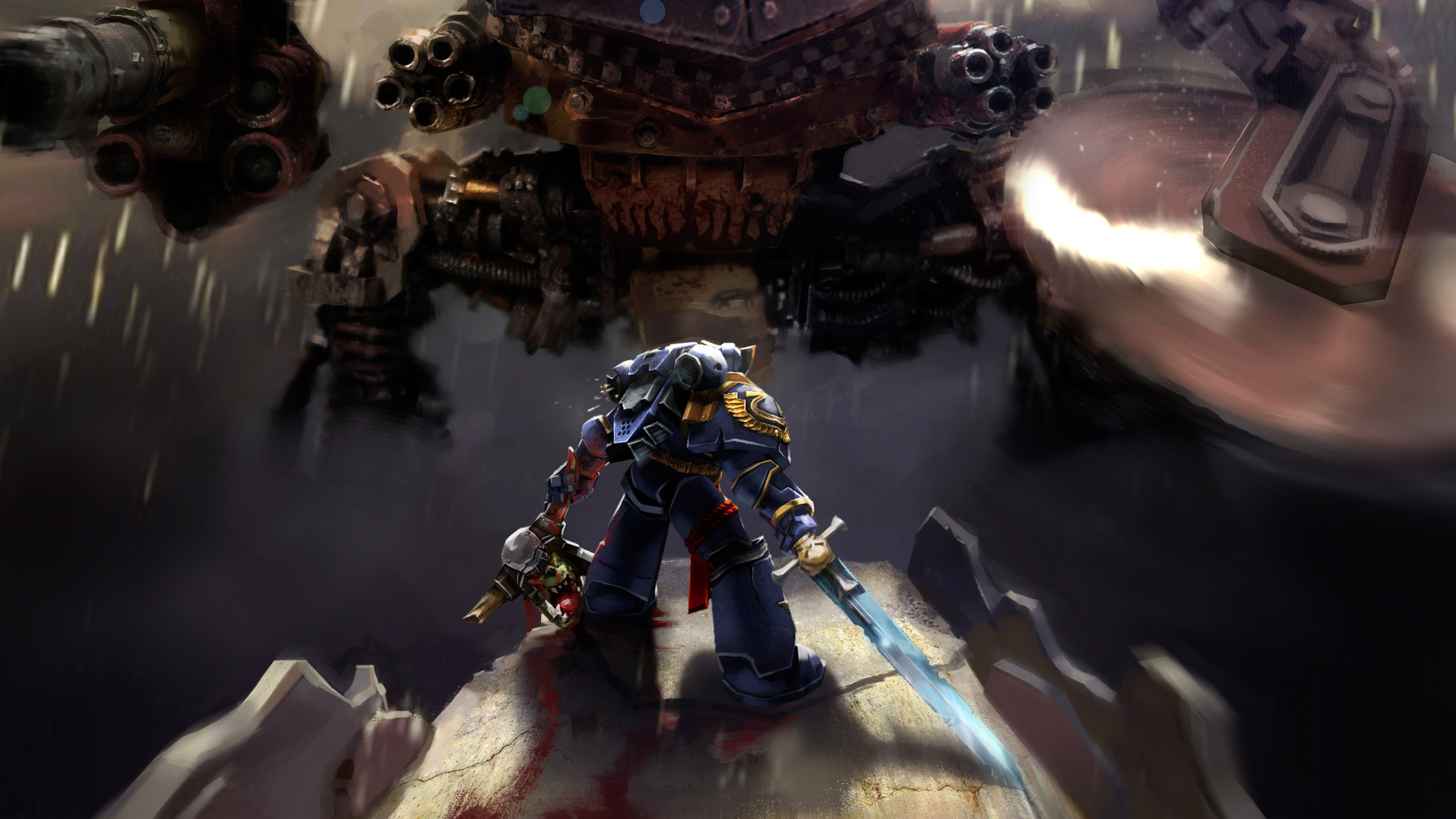 warhammer 40k space marine ultramarines, hd games, 4k wallpapers