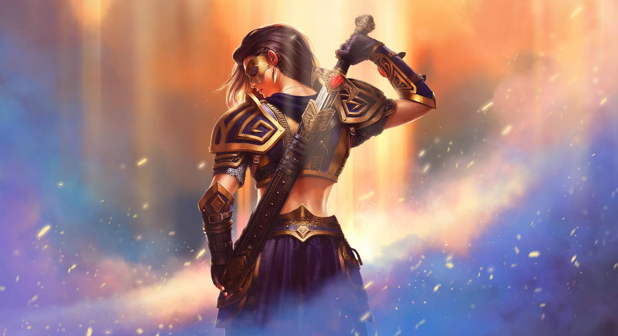 warrior fantasy girl hd fantasy girls 4k wallpapers