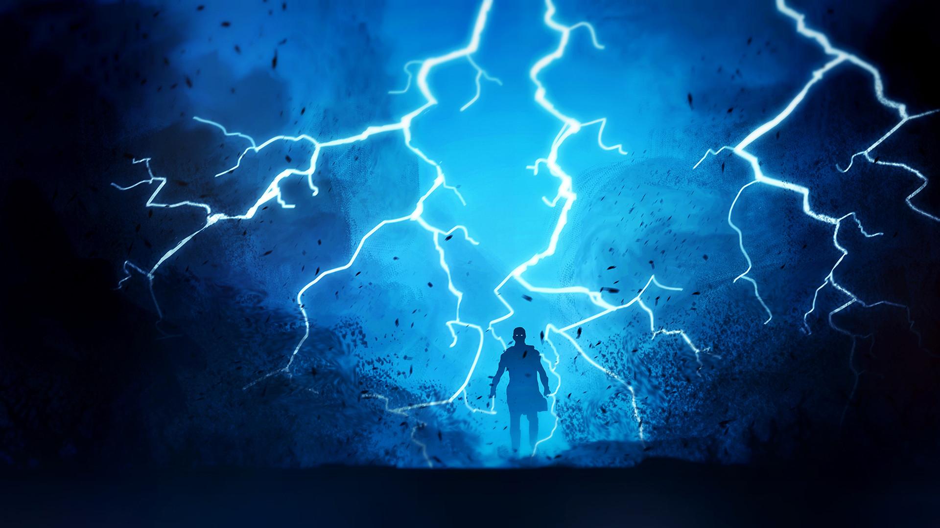 Warrior Fantasy Lightning HD Artist 4k Wallpapers Images