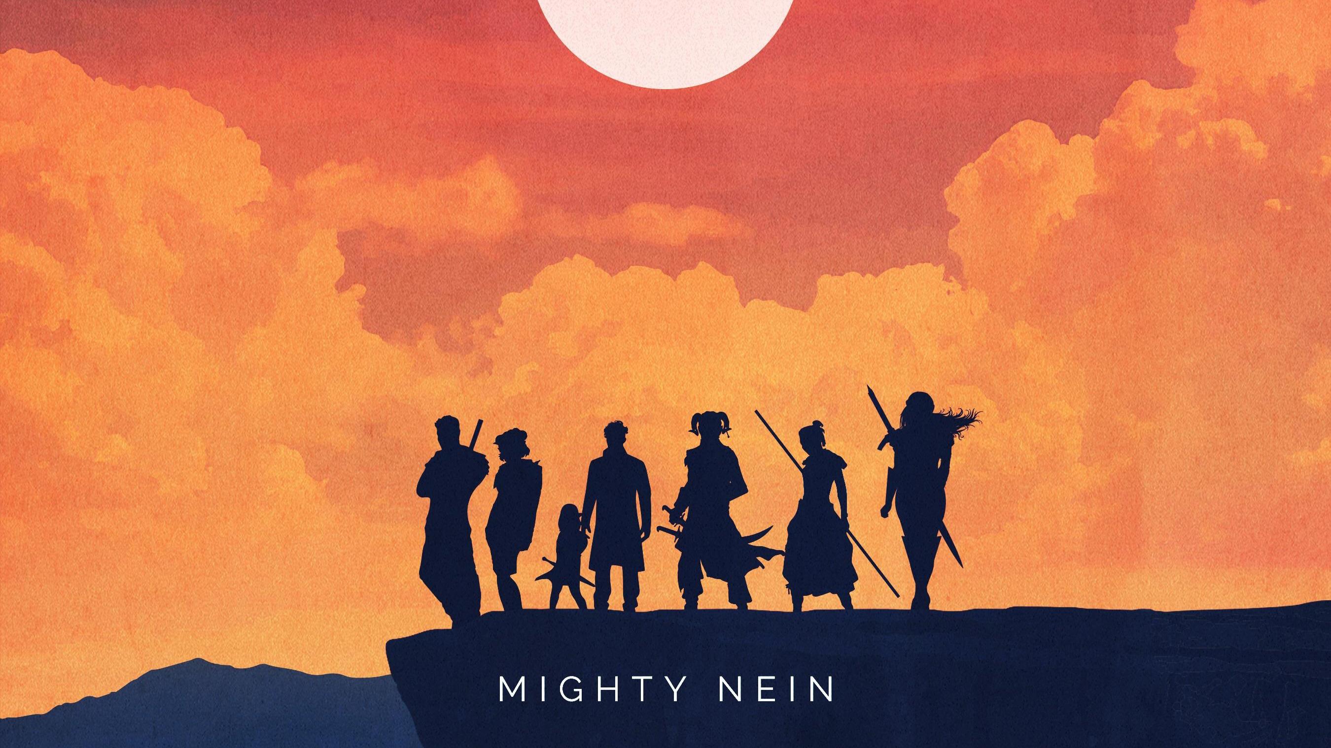 Warriors Mighty Nein Minimalist Art, HD Artist, 4k ...