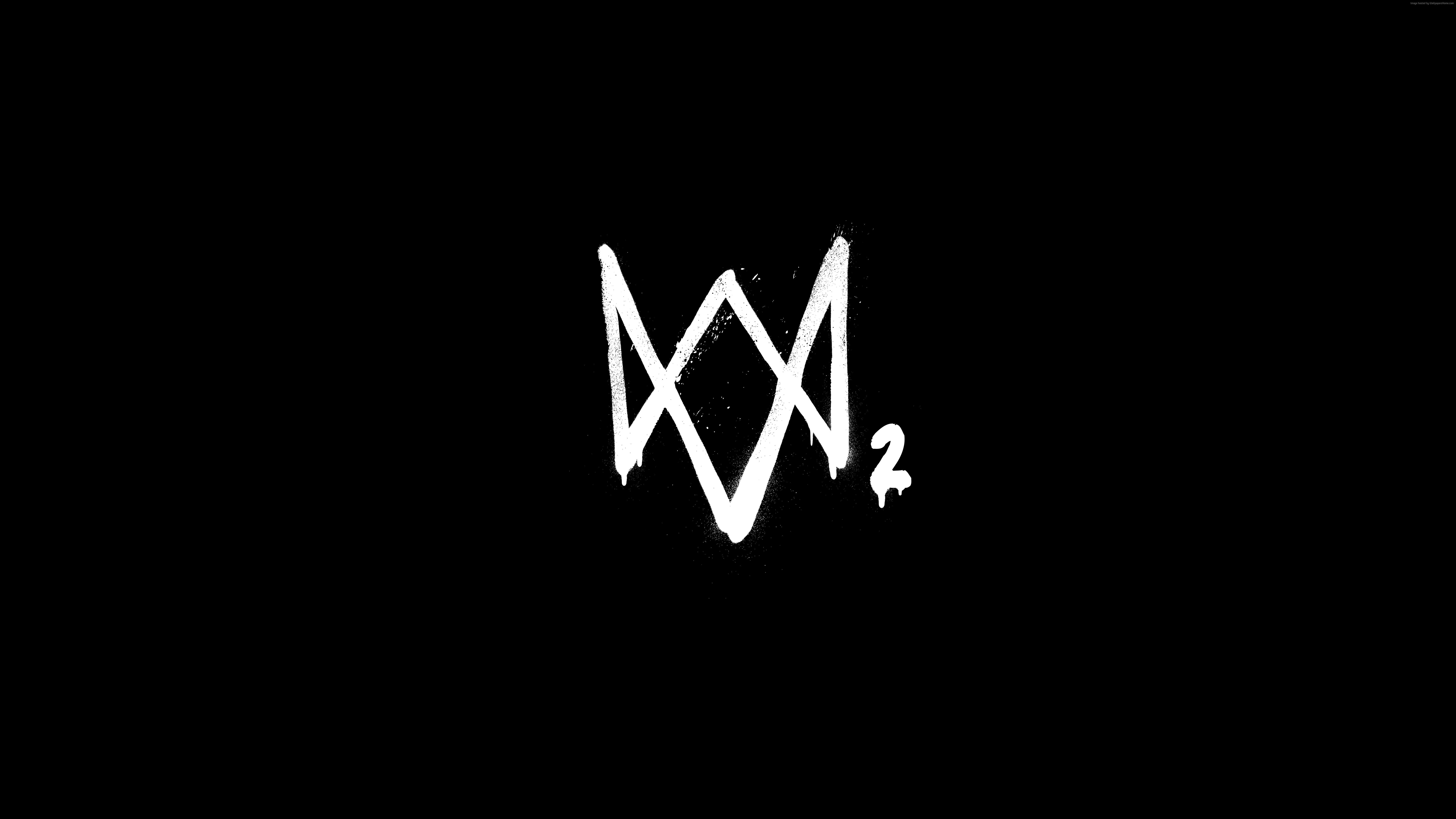 7680x4320 Watch Dogs 2 8k Logo 8k Hd 4k Wallpapers Images