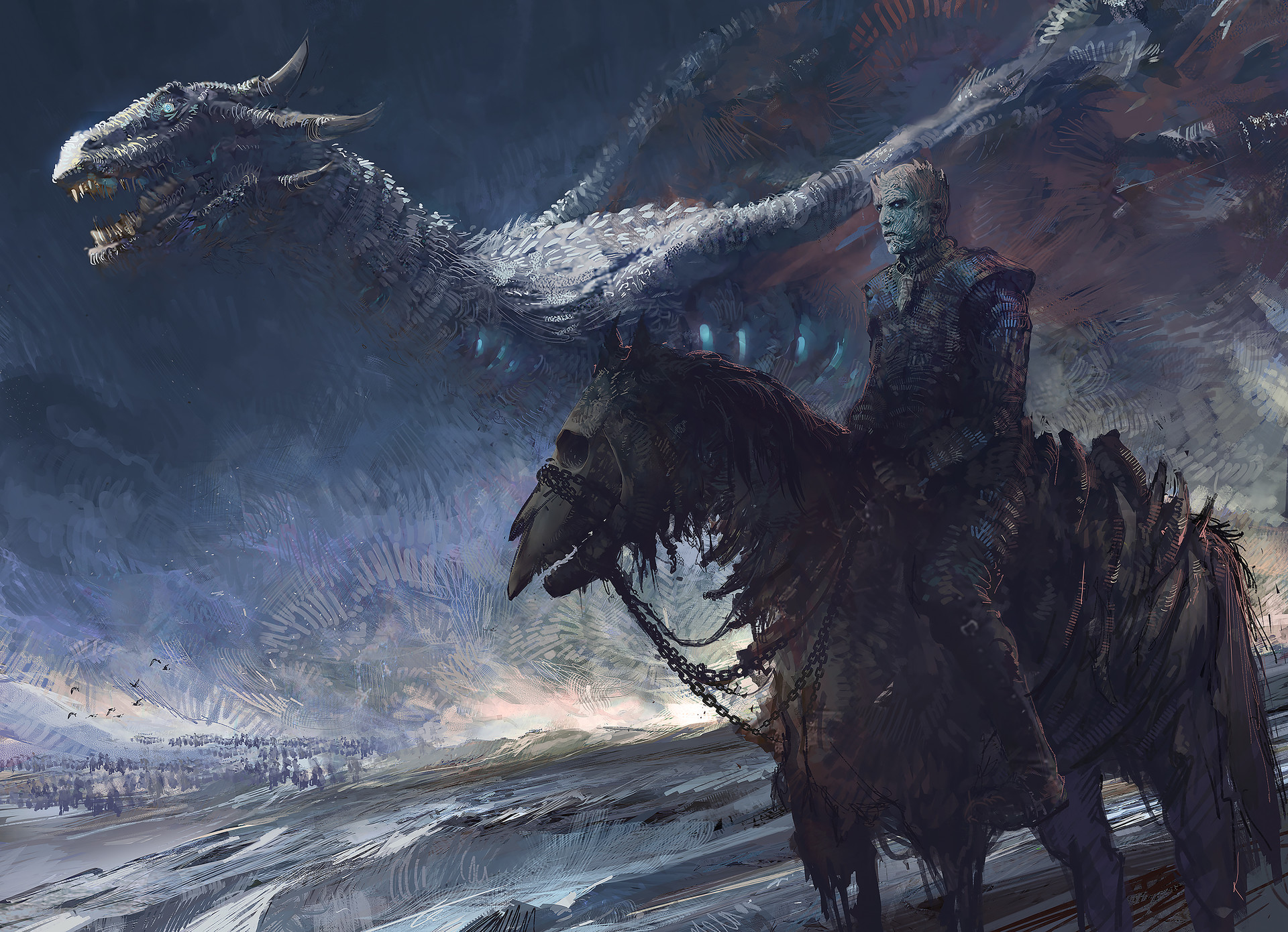 King Of Cars >> White Walker And Dragon, HD Artist, 4k Wallpapers, Images, Backgrounds, Photos and Pictures