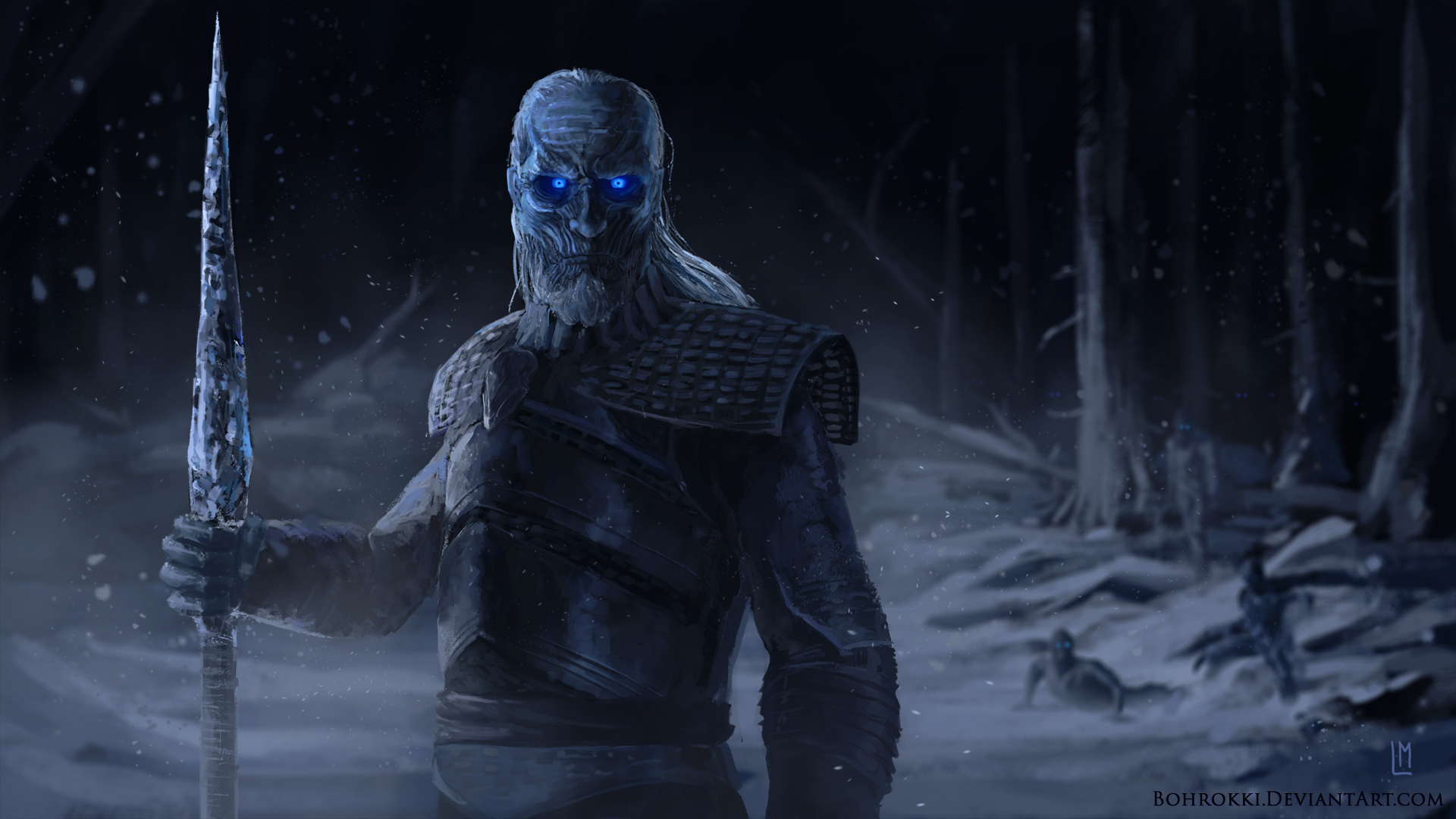 1360x768 White Walkers Artwork Hd Laptop Hd Hd 4k Wallpapers