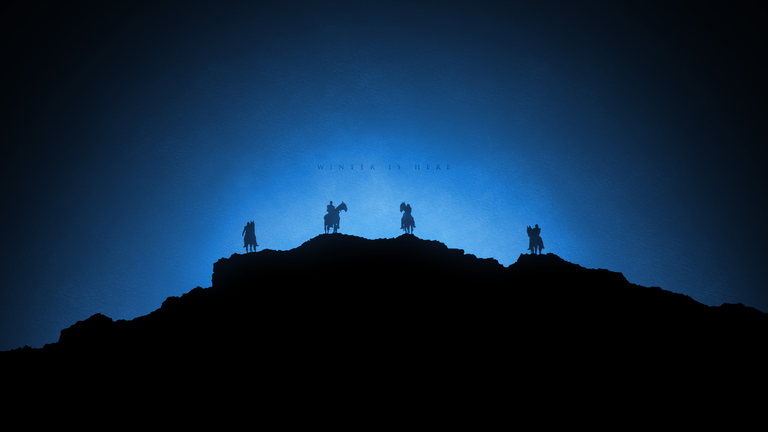 Game Of Thrones Minimalist Wallpaper: White Walkers Winter Is Here Game Of Thrones Minimalism