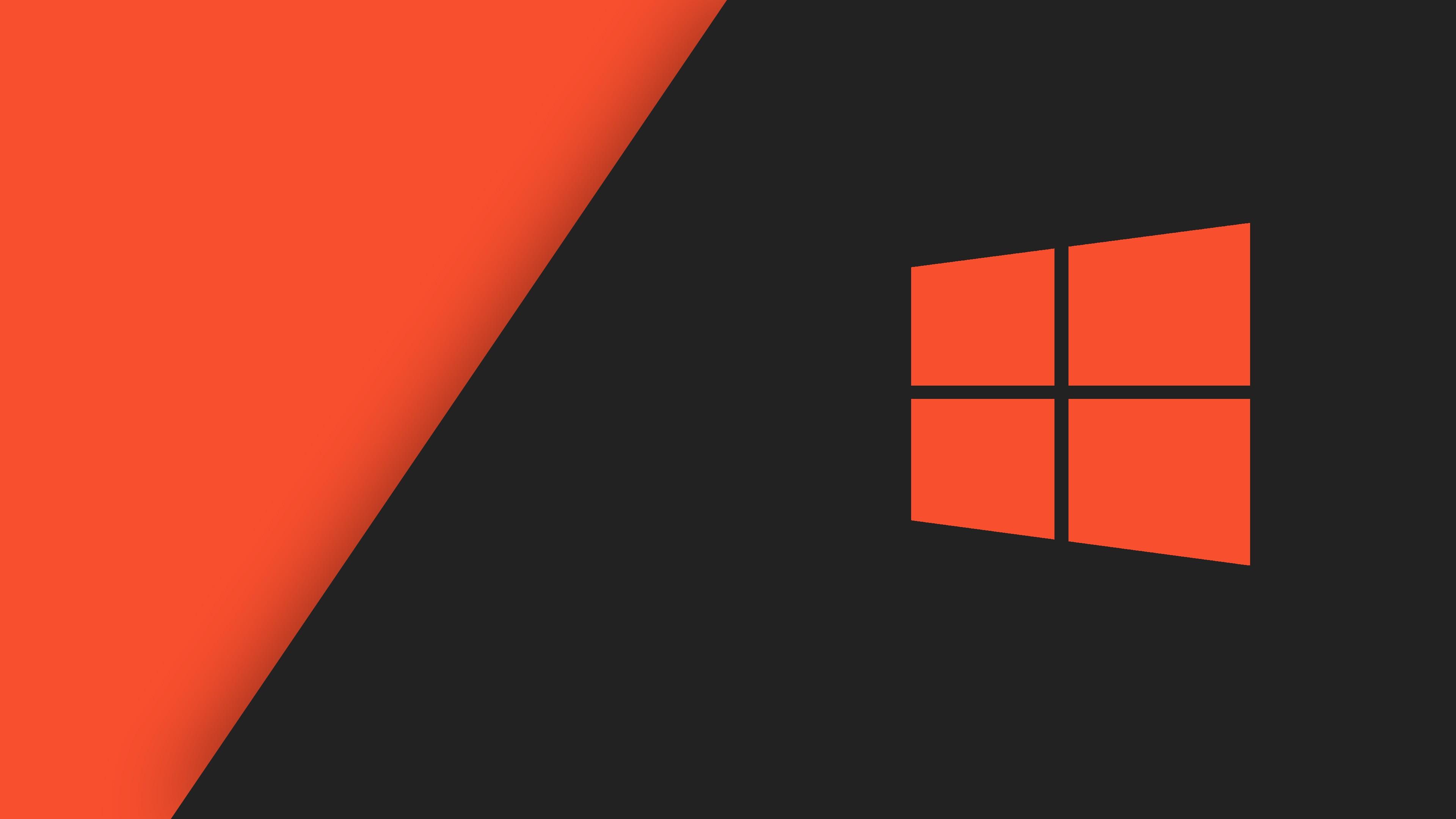 Windows 10 Orange Stock
