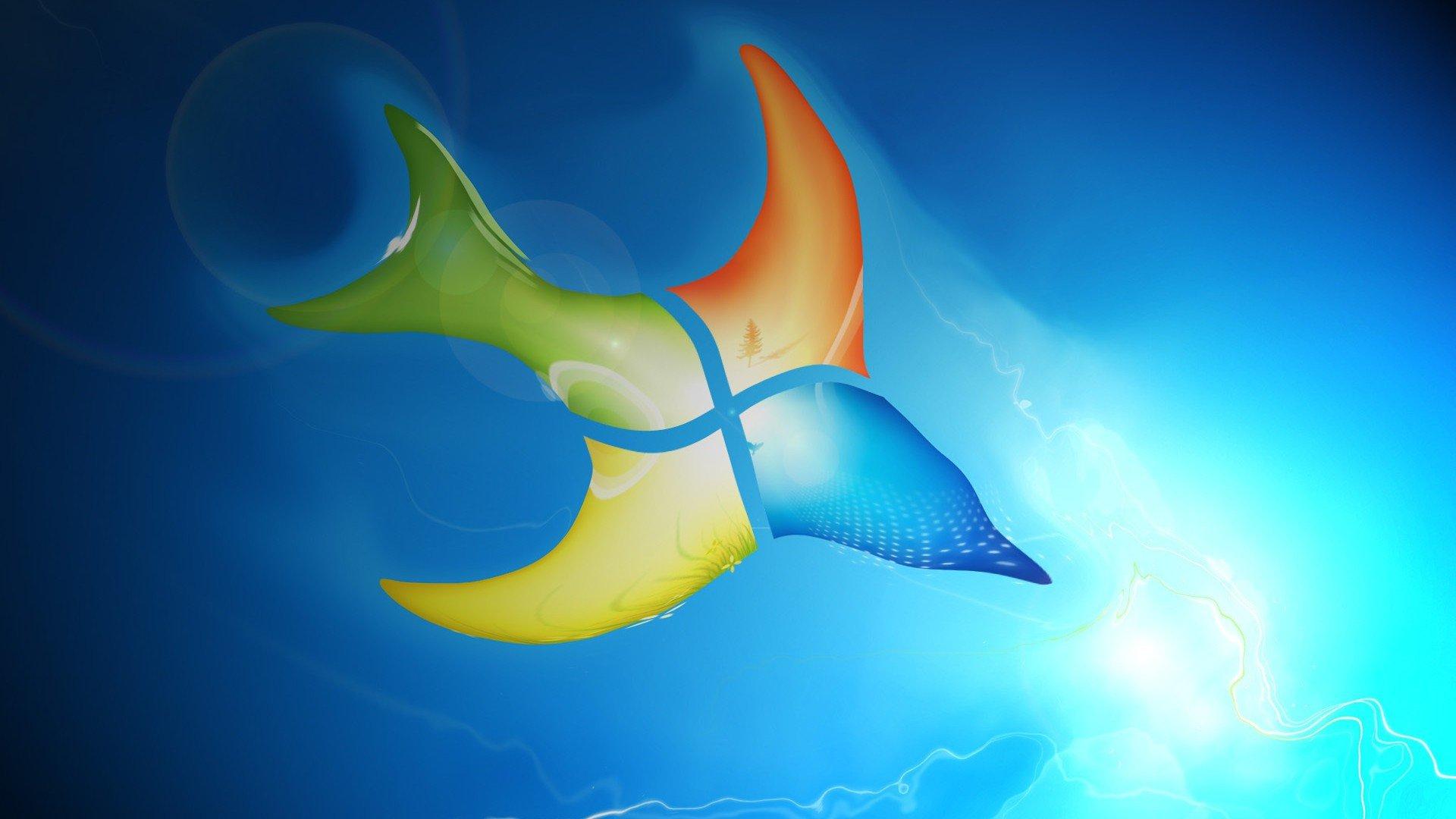 Windows 7 Fish Art, HD Computer, 4k Wallpapers, Images