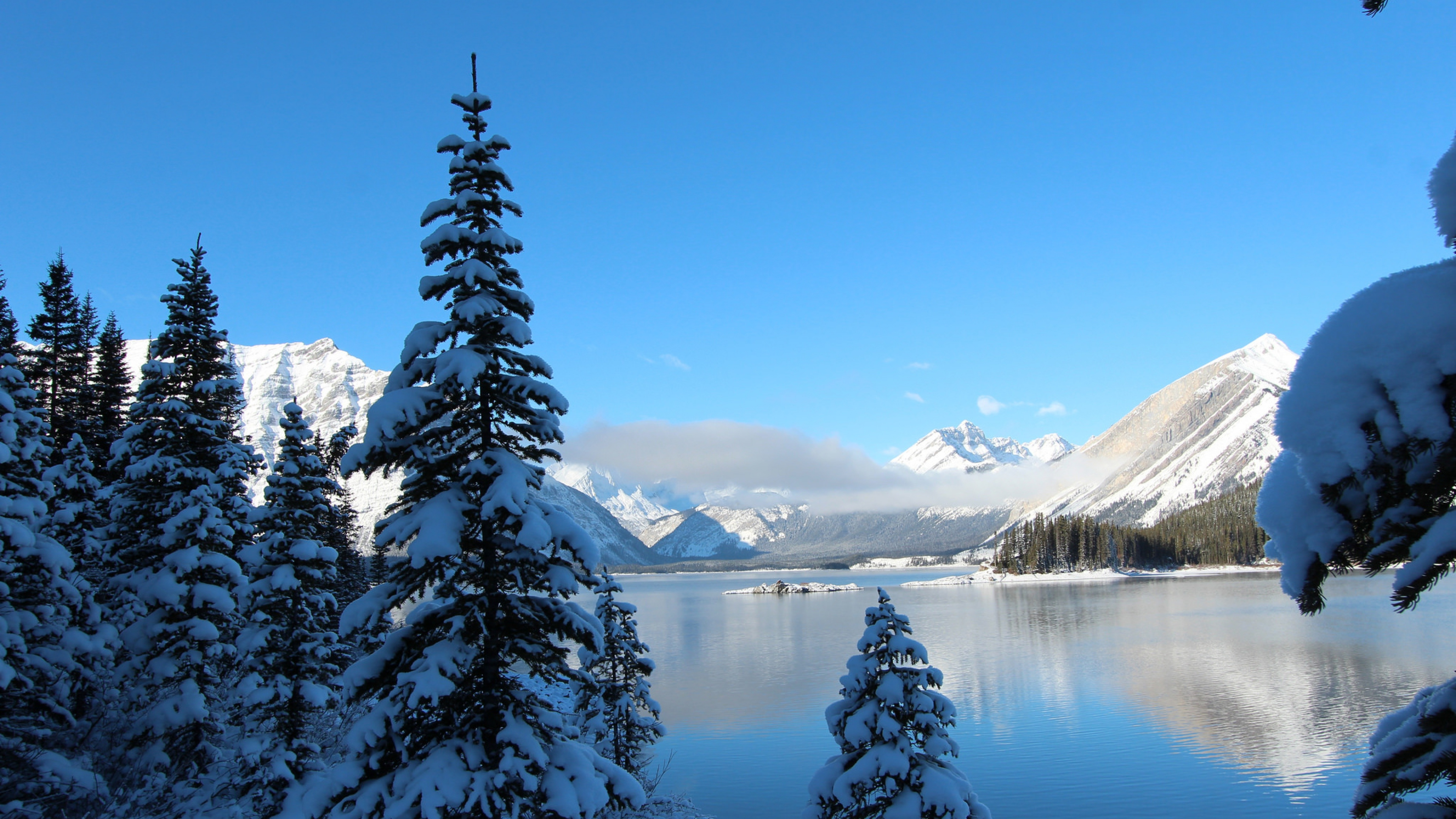 1366x768 winter snow lake mountain 1366x768 resolution hd 4k