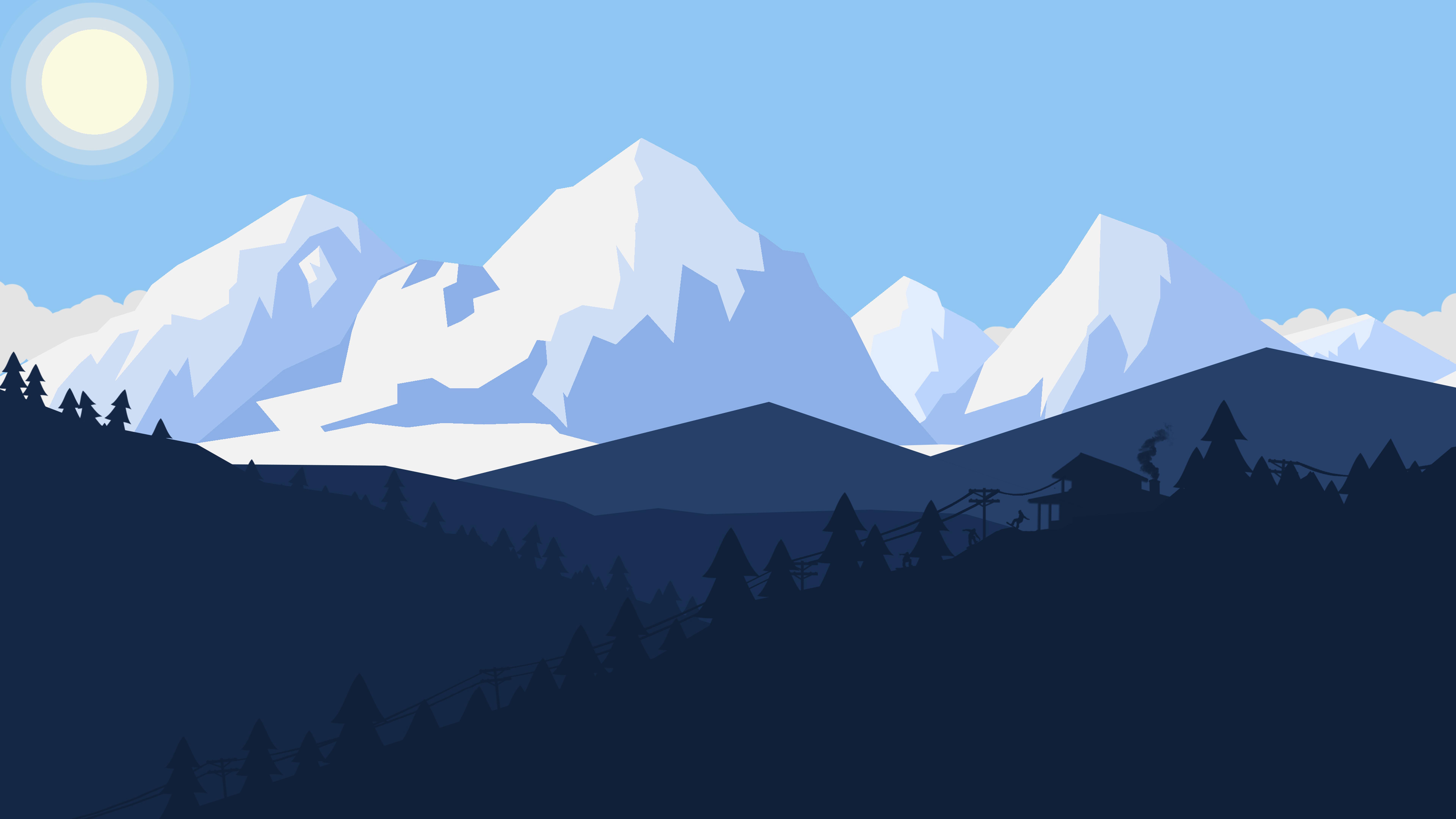 Winter Snow Landscape Minimalist 8k, HD Artist, 4k ...
