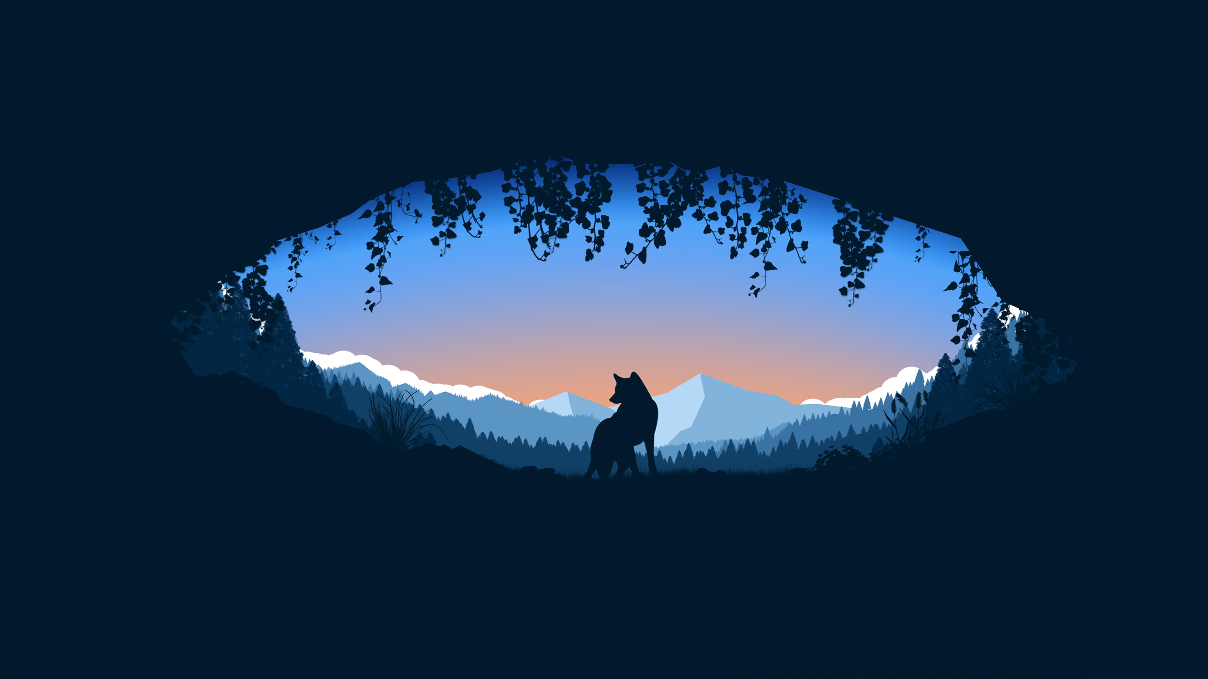 Recovery Mountain Minimalist 4k Hd Desktop Wallpaper For: Wolf Cave Minimalist 4k, HD Artist, 4k Wallpapers, Images