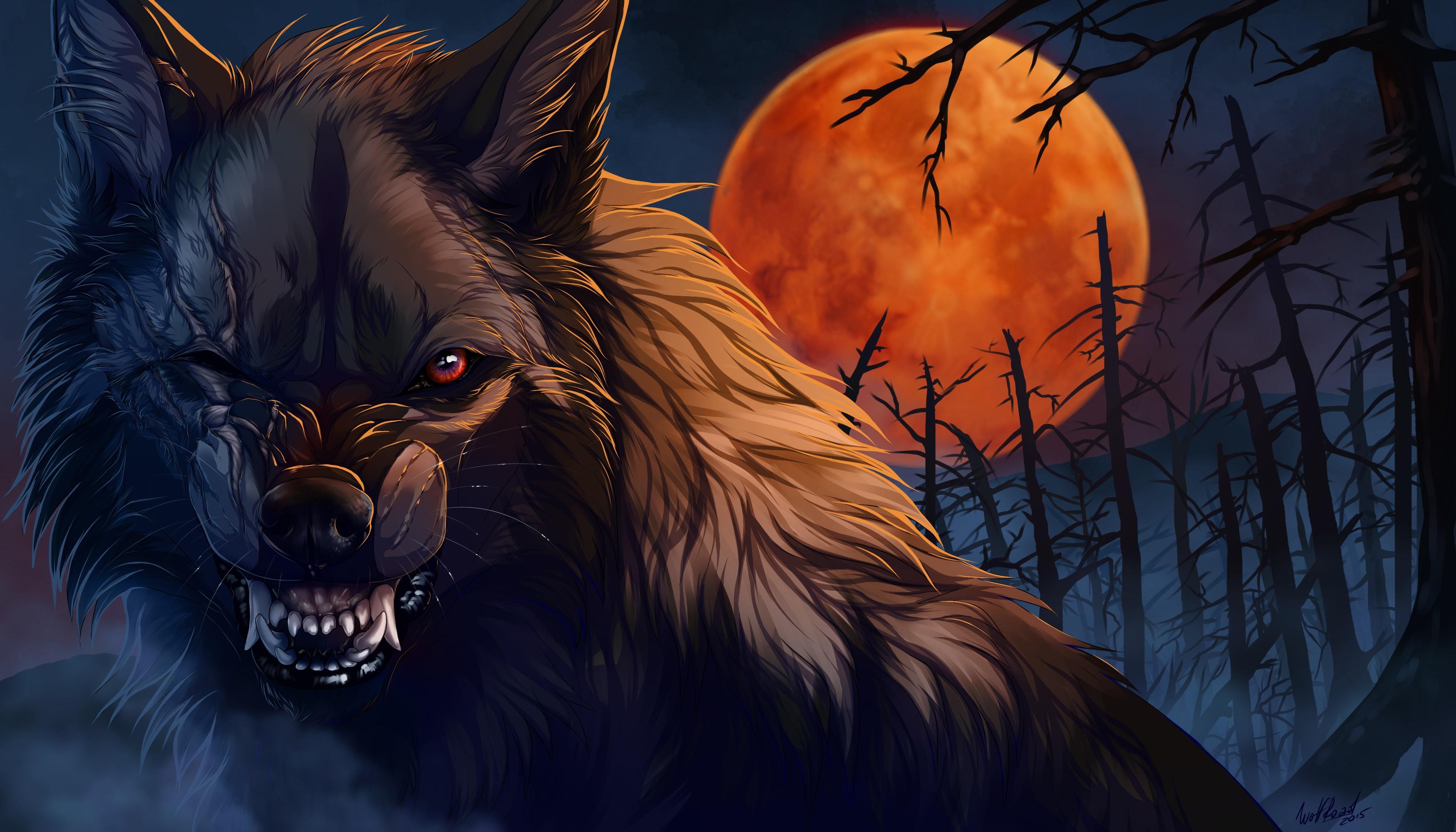 wolf roar artwork, hd artist, 4k wallpapers, images, backgrounds