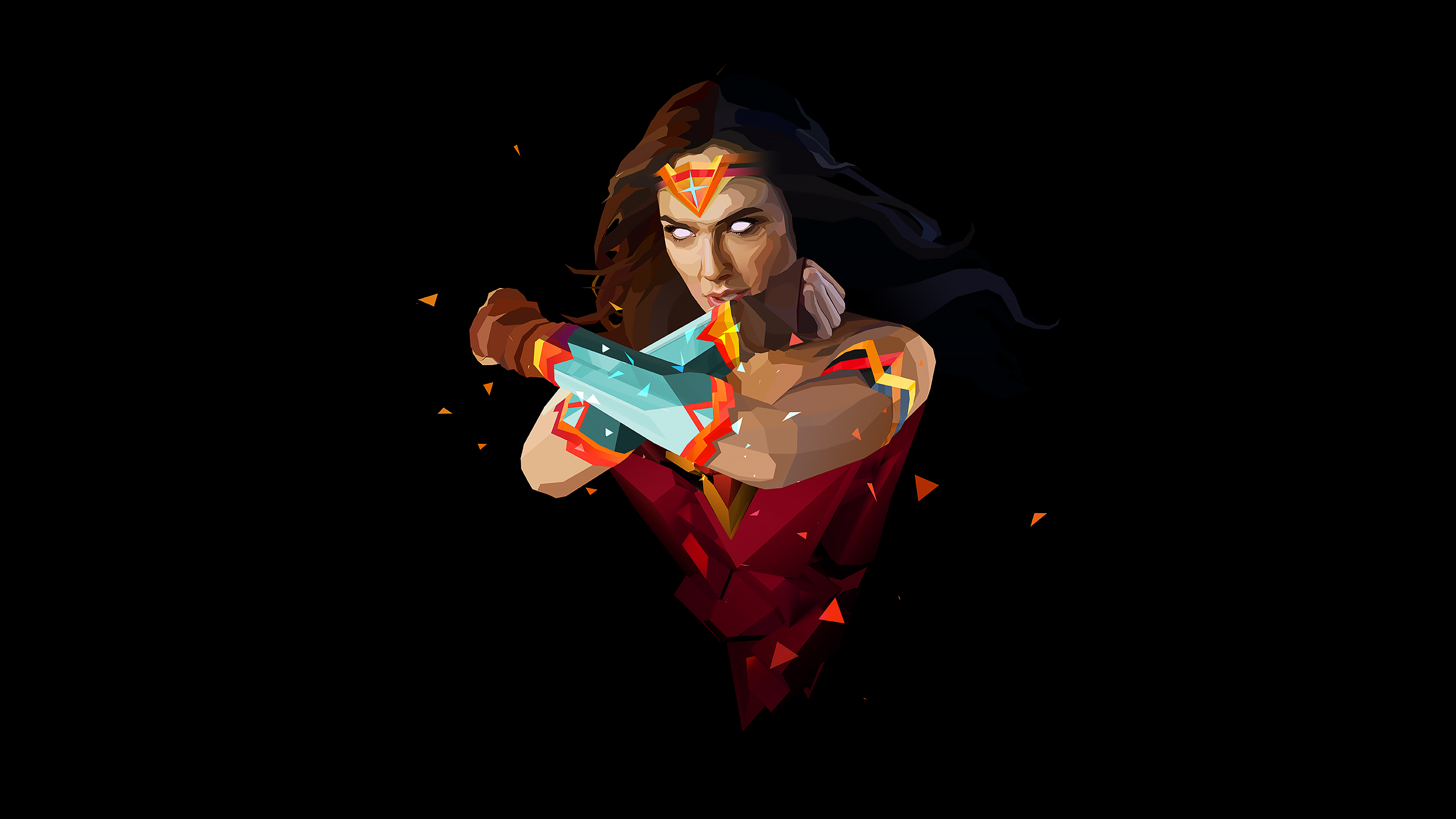 Pubg Real Girl Wallpaper: Wonder Woman Abstract Art, HD Abstract, 4k Wallpapers