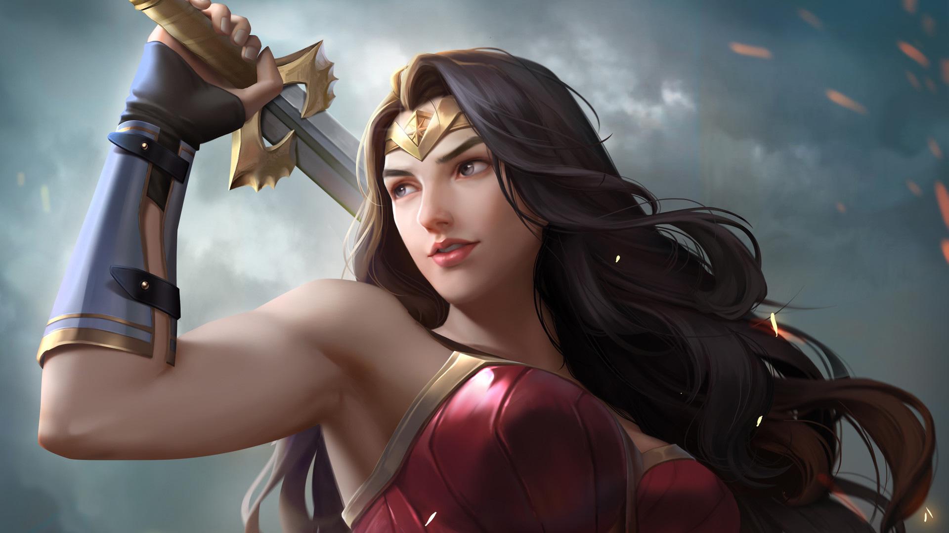 Wonder Woman Artwork 2018 Latest, HD Superheroes, 4k