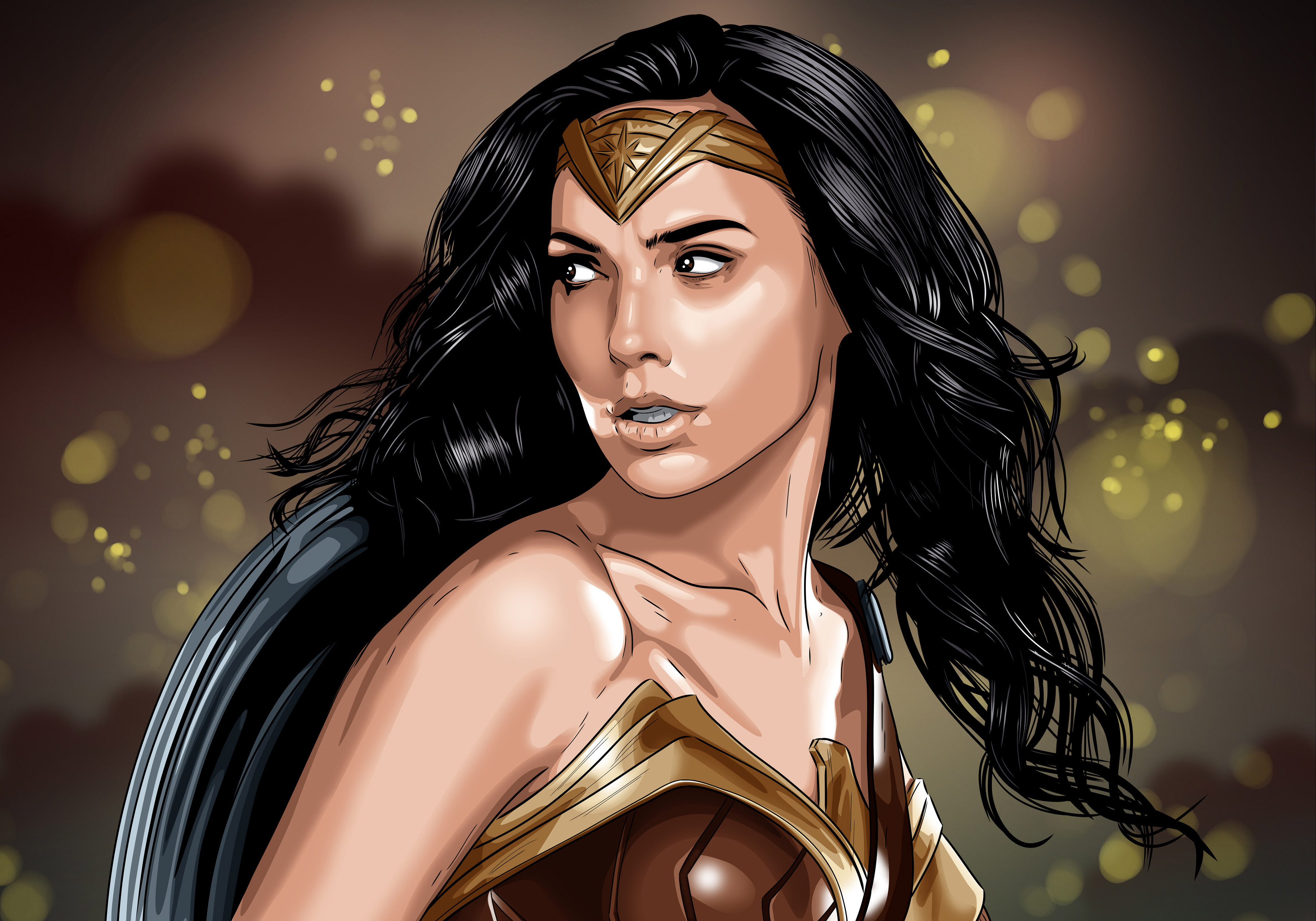 Wallpaper Wonder Woman Hd 4k 8k Movies 9526: Wonder Woman Artwork 4k, HD Artist, 4k Wallpapers, Images