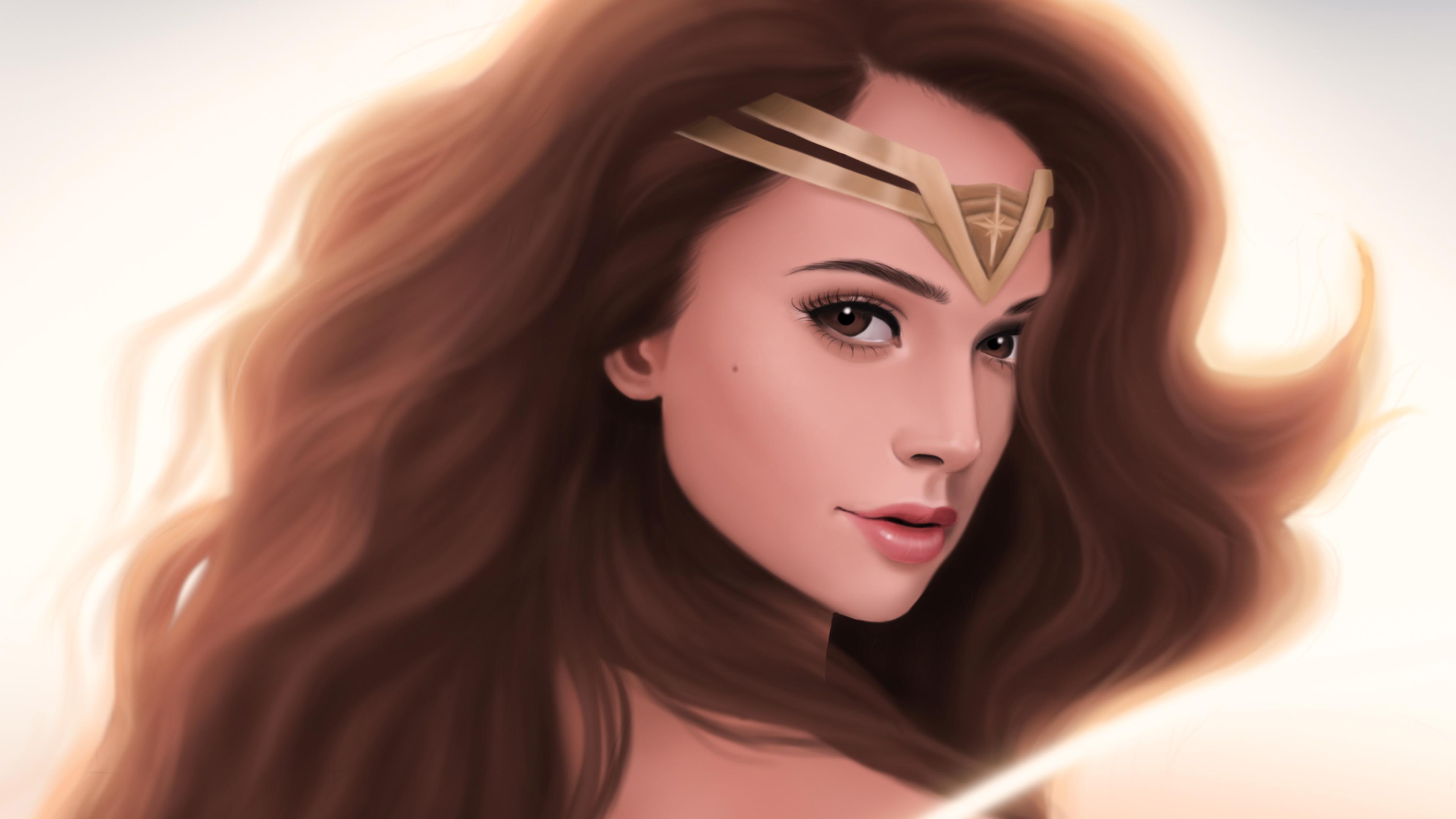 Wonder Woman Gorgeous Art, HD Superheroes, 4k Wallpapers