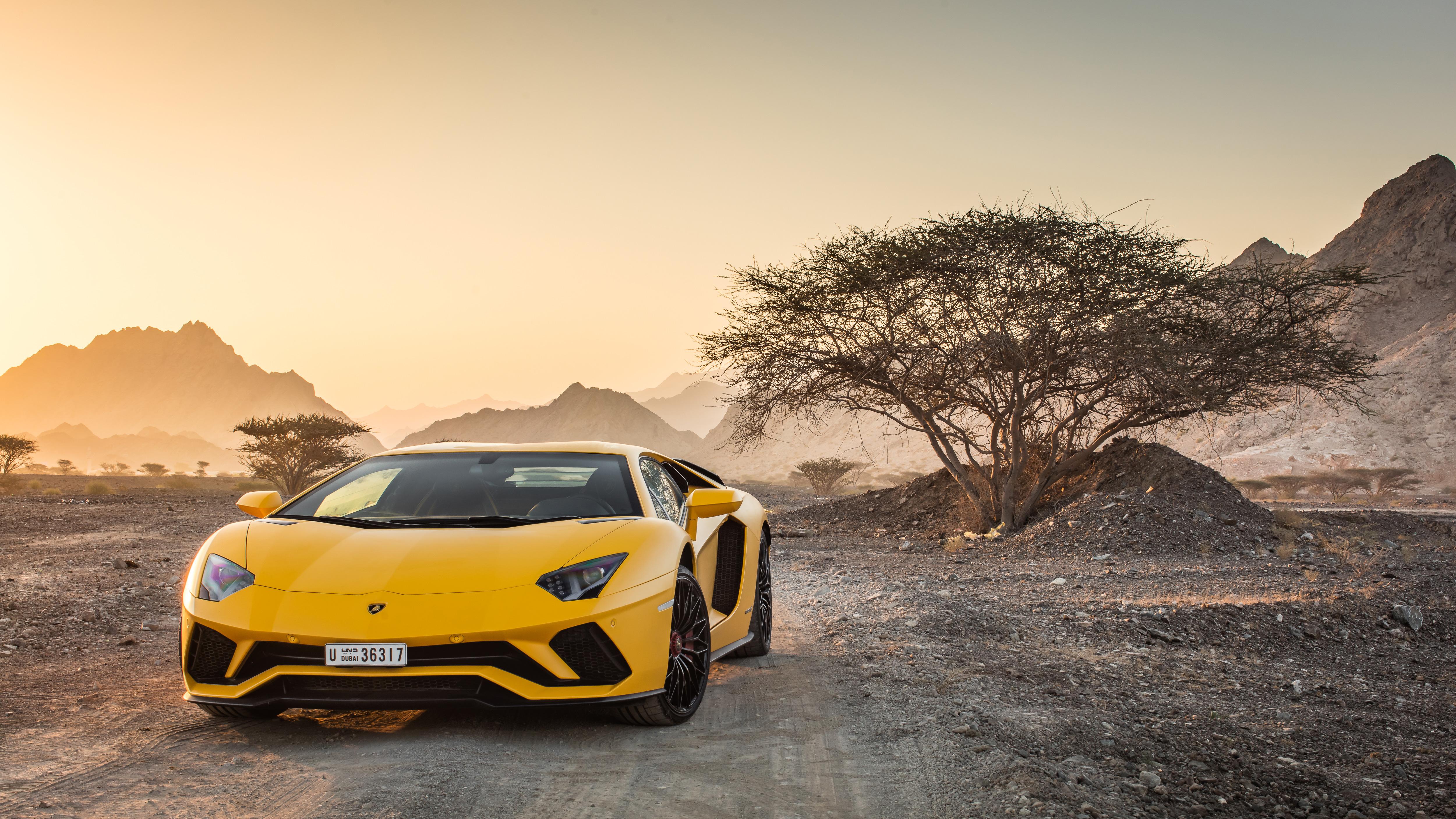 Lamborghini Aventador Car 4k Hd Desktop Wallpaper For 4k: Yellow Lamborghini Aventador 5k, HD Cars, 4k Wallpapers