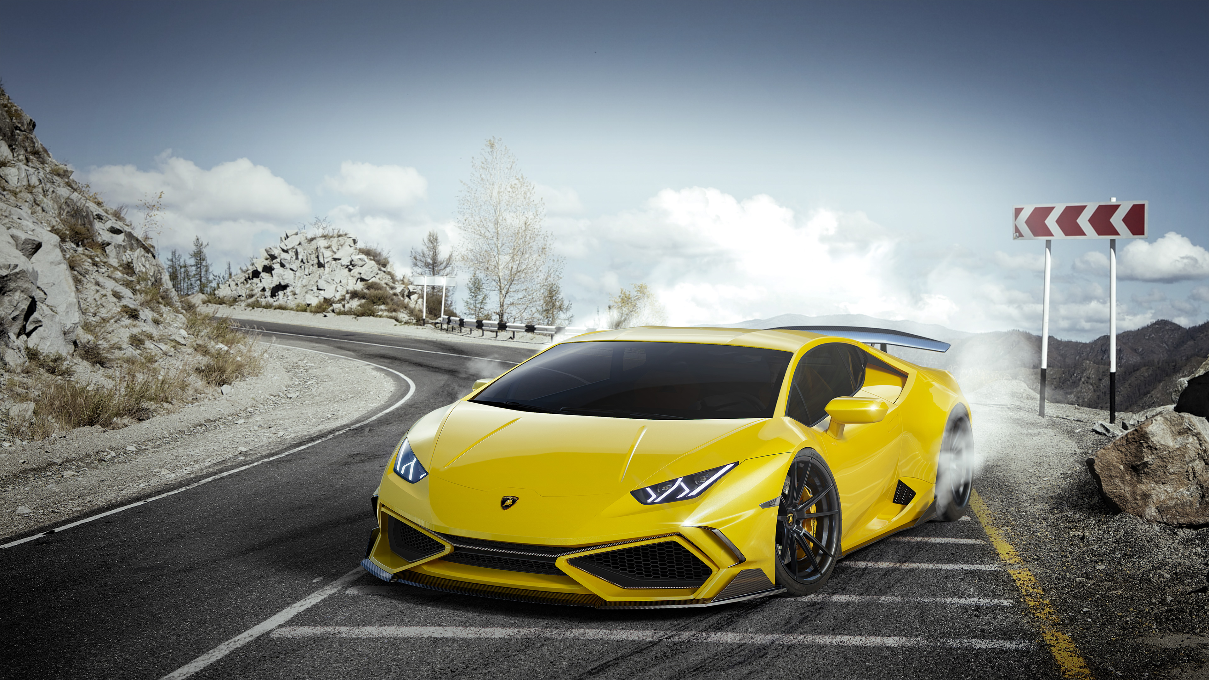 Yellow Lamborghini Huracan 4k, HD Cars, 4k Wallpapers