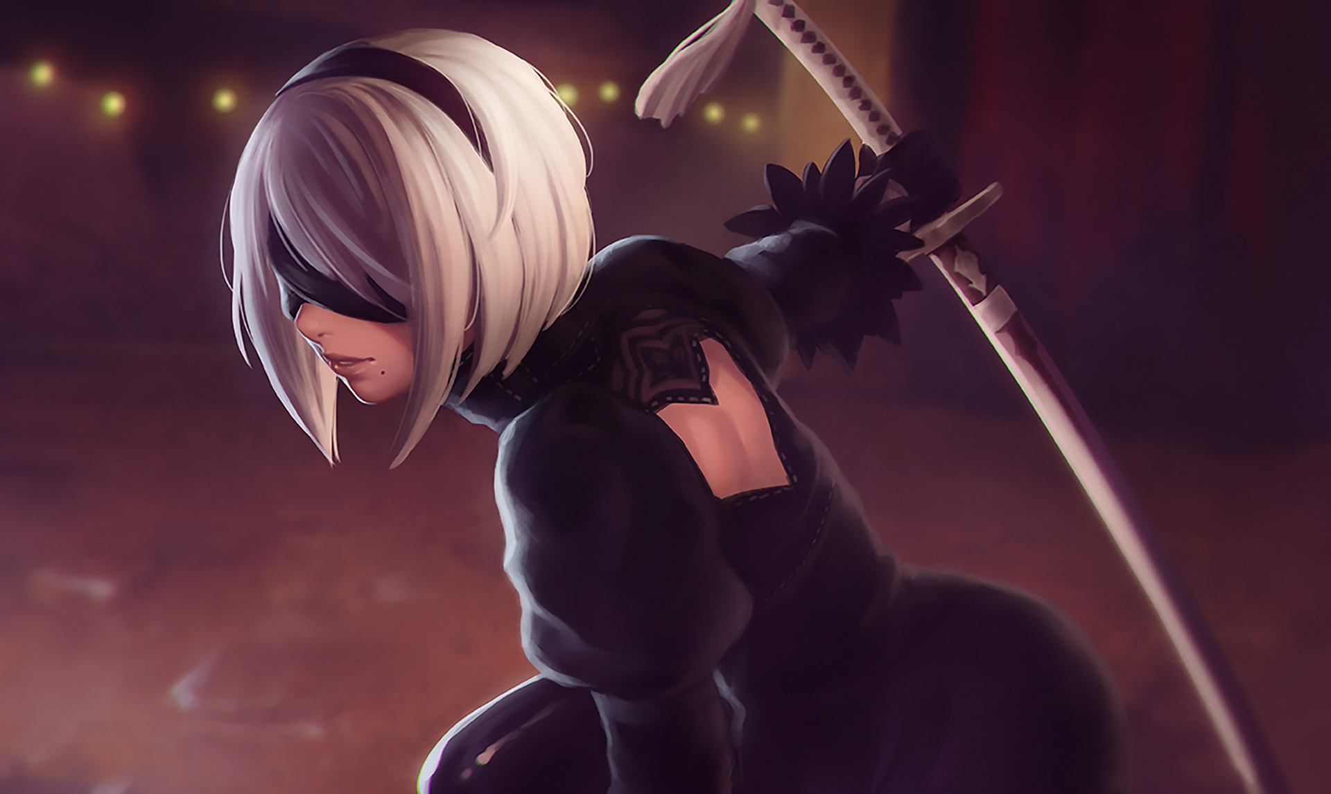 Nier Automata Fantasy Game Art Full Hd Wallpaper: YoRHa NO 2 Type B Nier Automata Artwork, HD Games, 4k