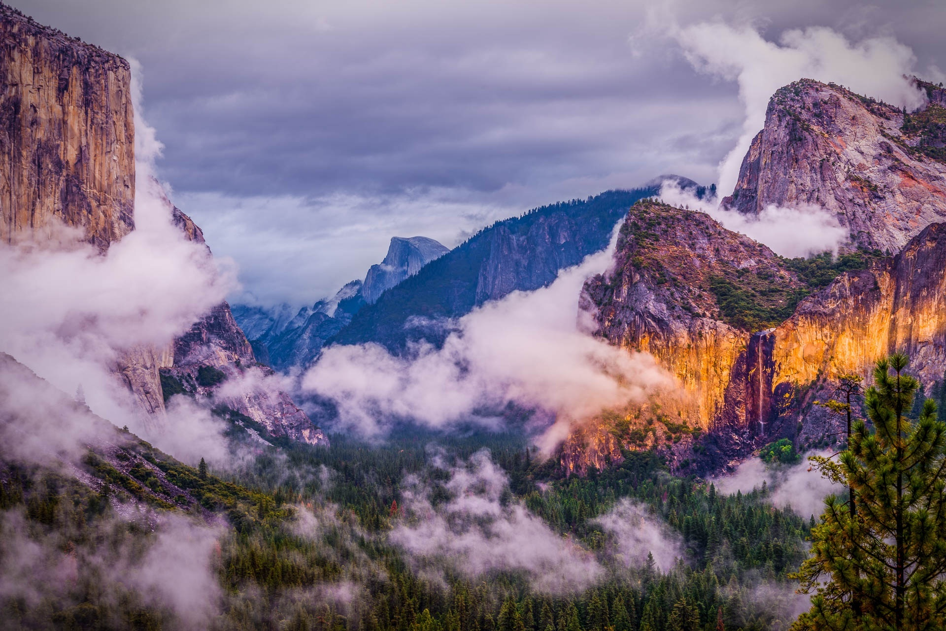 1366x768 Yosemite National Park Clouds 1366x768 Resolution ...