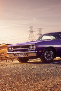 320x568 1970 PLYMOUTH GTX Side View