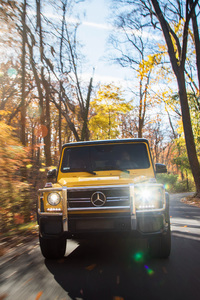 320x568 2017 Mercedes AMG G63 Yellow 4k