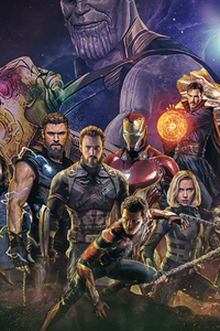 640x1136 2018 Avengers Infinity War Artwork