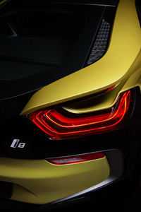 2160x3840 2018 BMW I8 Frozen Yellow Edition