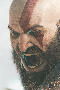 240x400 2018 Kratos God Of War 4k