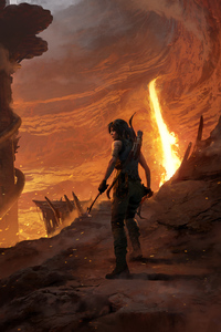 640x1136 2018 Shadow Of The Tomb Raider Official Artwork 5k