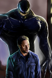 640x1136 2018 Venom Movie Art
