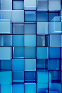 480x800 3D Cubes Abstract