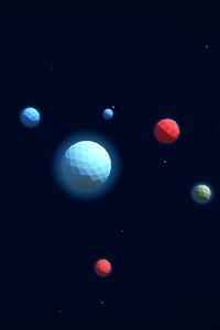 480x800 3d Planets