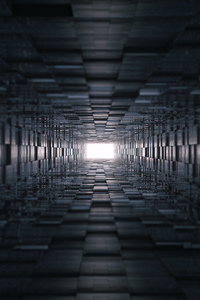 360x640 3d Tunnel Abstract 8k
