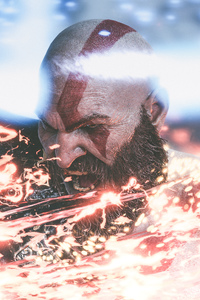 240x400 4k Kratos God Of War 4 Game