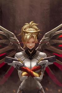1080x1920 4k Mercy Overwatch Art