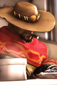 1280x2120 5k Mccree Overwatch