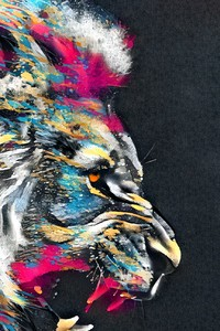 1440x2560 Abstract Artistic Colorful Lion