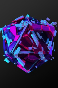 320x480 Abstract Colorful Cgi Triangle Art