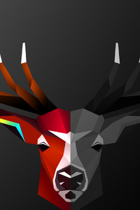 1280x2120 Abstract Deer 4k