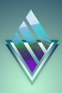 320x568 Abstract Triangle Background