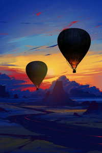 480x854 Air Balloon Floating