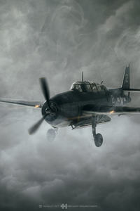 240x400 Aircraft Dark Clouds