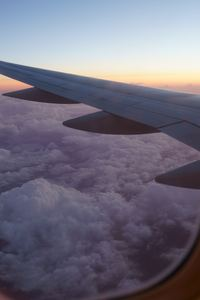 360x640 Airplane Clouds Wings Flying 5k