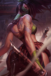 1280x2120 Akali The Rogue Assassin