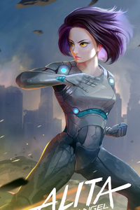 720x1280 Alita Battle Angel 2018 Art