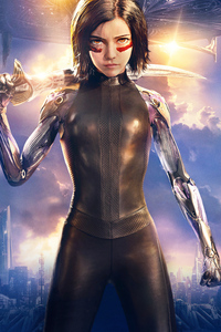 320x480 Alita Battle Angel 2019