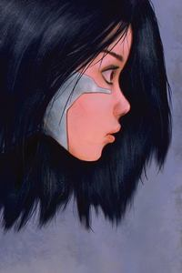 320x568 Alita Battle Angel 5k