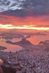 750x1334 Amazing View Of Rio De Janeiro During Sunset