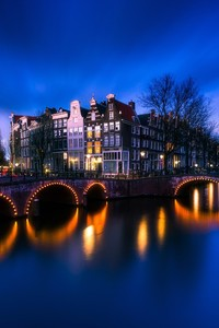 2160x3840 Amsterdam Bridge Street Light Long Exposure 4k